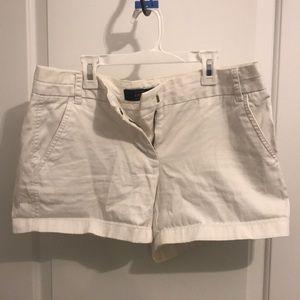 White JCrew Chino Shorts